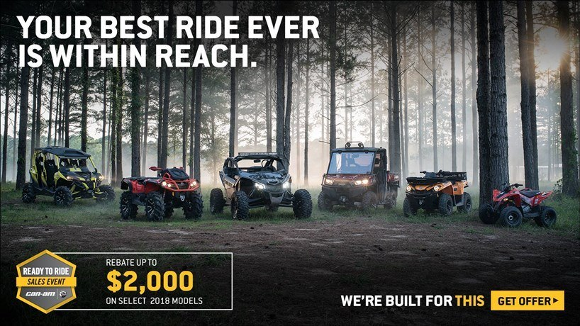 Can-Am - Ready To Ride Sales Event - Maverick X3 Rebates